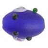 """Glass Bead Oval 10x15mm 8""""str Cobalt Matt"""